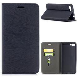 Tree Bark Pattern Automatic suction Leather Wallet Case for Asus Zenfone 4 Max ZC554KL Pro Plus - Black