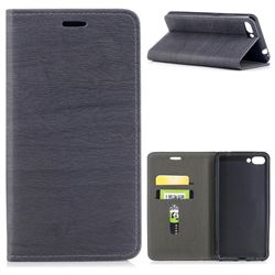 Tree Bark Pattern Automatic suction Leather Wallet Case for Asus Zenfone 4 Max ZC554KL Pro Plus - Gray