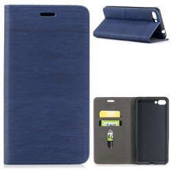 Tree Bark Pattern Automatic suction Leather Wallet Case for Asus Zenfone 4 Max ZC554KL Pro Plus - Blue