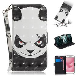 Angry Bear 3D Painted Leather Wallet Phone Case for Asus Zenfone 4 Max ZC554KL Pro Plus