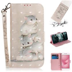 Three Squirrels 3D Painted Leather Wallet Phone Case for Asus Zenfone 4 Max ZC554KL Pro Plus