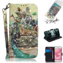 Beast Zoo 3D Painted Leather Wallet Phone Case for Asus Zenfone 4 Max ZC554KL Pro Plus