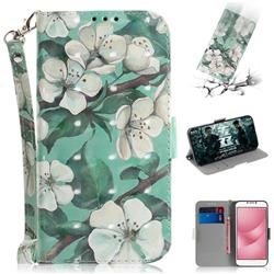 Watercolor Flower 3D Painted Leather Wallet Phone Case for Asus Zenfone 4 Max ZC554KL Pro Plus