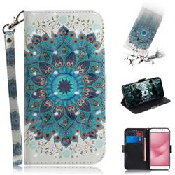 Peacock Mandala 3D Painted Leather Wallet Phone Case for Asus Zenfone 4 Max ZC554KL Pro Plus
