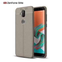 Luxury Auto Focus Litchi Texture Silicone TPU Back Cover for Asus Zenfone 5 Lite ZC600KL - Gray