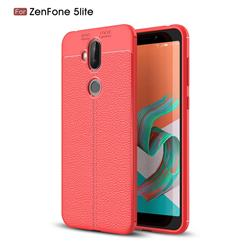 Luxury Auto Focus Litchi Texture Silicone TPU Back Cover for Asus Zenfone 5 Lite ZC600KL - Red