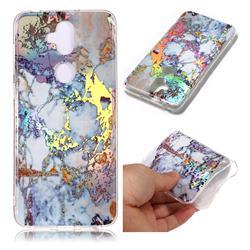 Gold Plating Marble Pattern Bright Color Laser Soft TPU Case for Asus Zenfone 5 Lite ZC600KL