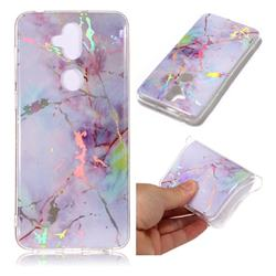 Pink Purple Marble Pattern Bright Color Laser Soft TPU Case for Asus Zenfone 5 Lite ZC600KL