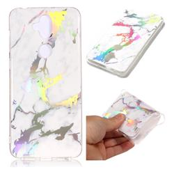 White Marble Pattern Bright Color Laser Soft TPU Case for Asus Zenfone 5 Lite ZC600KL