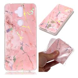 Powder Pink Marble Pattern Bright Color Laser Soft TPU Case for Asus Zenfone 5 Lite ZC600KL