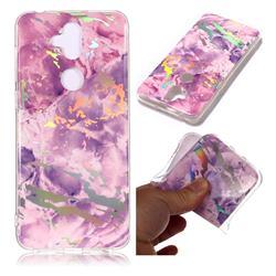 Purple Marble Pattern Bright Color Laser Soft TPU Case for Asus Zenfone 5 Lite ZC600KL