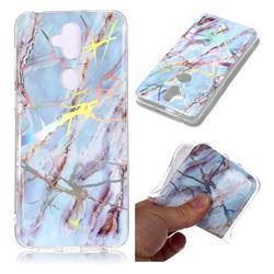 Light Blue Marble Pattern Bright Color Laser Soft TPU Case for Asus Zenfone 5 Lite ZC600KL