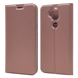Ultra Slim Card Magnetic Automatic Suction Leather Wallet Case for Asus Zenfone 5 Lite ZC600KL - Rose Gold