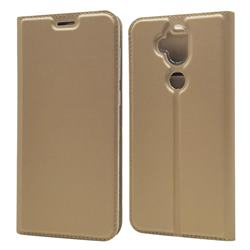 Ultra Slim Card Magnetic Automatic Suction Leather Wallet Case for Asus Zenfone 5 Lite ZC600KL - Champagne