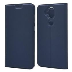 Ultra Slim Card Magnetic Automatic Suction Leather Wallet Case for Asus Zenfone 5 Lite ZC600KL - Royal Blue