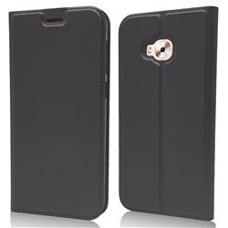 Ultra Slim Card Magnetic Automatic Suction Leather Wallet Case for Asus Zenfone 4 Selfie ZD553KL - Star Grey