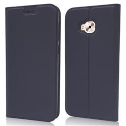 Ultra Slim Card Magnetic Automatic Suction Leather Wallet Case for Asus Zenfone 4 Selfie ZD553KL - Royal Blue