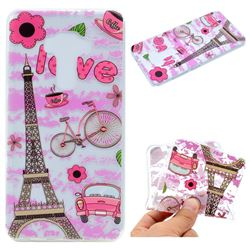 Love Eiffel Tower Super Clear Soft TPU Back Cover for Asus Zenfone 3 ZE552KL