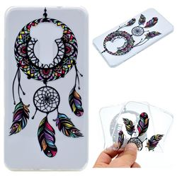 Feather Black Wind Chimes Super Clear Soft TPU Back Cover for Asus Zenfone 3 ZE552KL