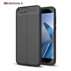 Luxury Auto Focus Litchi Texture Silicone TPU Back Cover for Asus Zenfone 4 ZE554KL - Black