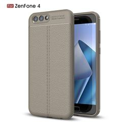 Luxury Auto Focus Litchi Texture Silicone TPU Back Cover for Asus Zenfone 4 ZE554KL - Gray