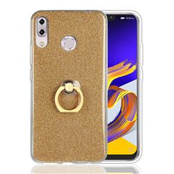 Luxury Soft TPU Glitter Back Ring Cover with 360 Rotate Finger Holder Buckle for Asus Zenfone 5 ZE620KL - Golden