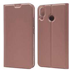 Ultra Slim Card Magnetic Automatic Suction Leather Wallet Case for Asus Zenfone 5 ZE620KL - Rose Gold