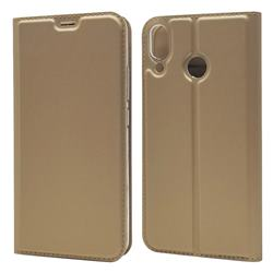 Ultra Slim Card Magnetic Automatic Suction Leather Wallet Case for Asus Zenfone 5 ZE620KL - Champagne