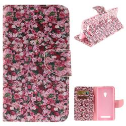 Intensive Floral PU Leather Wallet Case for Asus ZenFone 5 (A500CG/A501CG), LTE (A500KL)