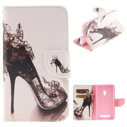 High Heels PU Leather Wallet Case for Asus ZenFone 5 (A500CG/A501CG), LTE (A500KL)