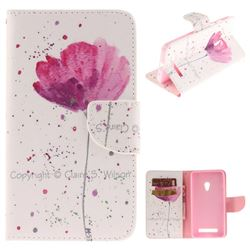 Purple Orchid PU Leather Wallet Case for Asus ZenFone 5 (A500CG/A501CG), LTE (A500KL)