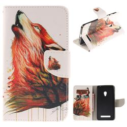 Color Wolf PU Leather Wallet Case for Asus ZenFone 5 (A500CG/A501CG), LTE (A500KL)