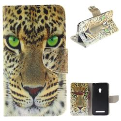 Yellow Tiger PU Leather Wallet Case for Asus ZenFone 5 (A500CG/A501CG), LTE (A500KL)