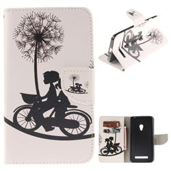 Cycling Dandelion PU Leather Wallet Case for Asus ZenFone 5 (A500CG/A501CG), LTE (A500KL)