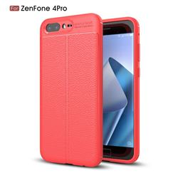 Luxury Auto Focus Litchi Texture Silicone TPU Back Cover for Asus Zenfone 4 Pro ZS551KL - Red