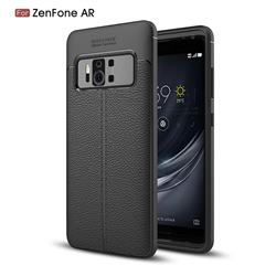 Luxury Auto Focus Litchi Texture Silicone TPU Back Cover for Asus Zenfone AR ZS571KL - Black