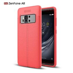 Luxury Auto Focus Litchi Texture Silicone TPU Back Cover for Asus Zenfone AR ZS571KL - Red