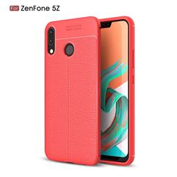Luxury Auto Focus Litchi Texture Silicone TPU Back Cover for Asus Zenfone 5Z ZS620KL - Red