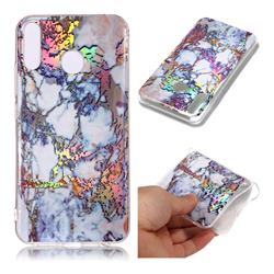 Gold Plating Marble Pattern Bright Color Laser Soft TPU Case for Asus Zenfone 5Z ZS620KL