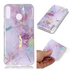 Pink Purple Marble Pattern Bright Color Laser Soft TPU Case for Asus Zenfone 5Z ZS620KL