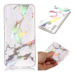 White Marble Pattern Bright Color Laser Soft TPU Case for Asus Zenfone 5Z ZS620KL