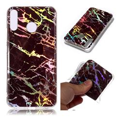 Black Brown Marble Pattern Bright Color Laser Soft TPU Case for Asus Zenfone 5Z ZS620KL