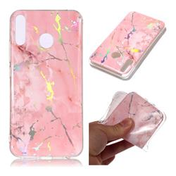 Powder Pink Marble Pattern Bright Color Laser Soft TPU Case for Asus Zenfone 5Z ZS620KL