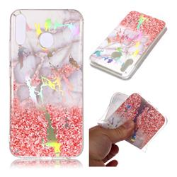 Powder Sandstone Marble Pattern Bright Color Laser Soft TPU Case for Asus Zenfone 5Z ZS620KL