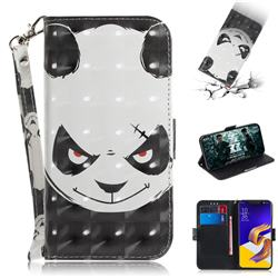 Angry Bear 3D Painted Leather Wallet Phone Case for Asus Zenfone 5Z ZS620KL