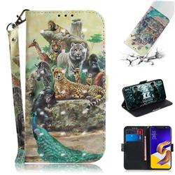 Beast Zoo 3D Painted Leather Wallet Phone Case for Asus Zenfone 5Z ZS620KL