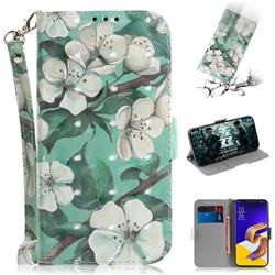 Watercolor Flower 3D Painted Leather Wallet Phone Case for Asus Zenfone 5Z ZS620KL