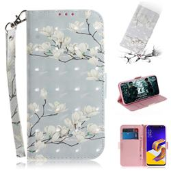Magnolia Flower 3D Painted Leather Wallet Phone Case for Asus Zenfone 5Z ZS620KL