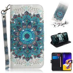 Peacock Mandala 3D Painted Leather Wallet Phone Case for Asus Zenfone 5Z ZS620KL