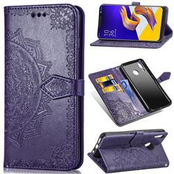 Embossing Imprint Mandala Flower Leather Wallet Case for Asus Zenfone 5Z ZS620KL - Purple